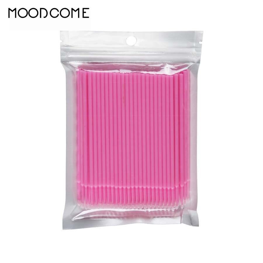 Hot Sale 100pcspack Disposable Makeup Brushes Eyelash Clean Stick