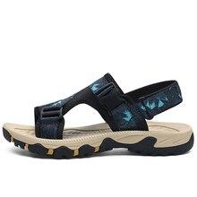 купить Flip Flops Large Size 46 Casual Man Beach Sandals 2019 Roman Men Summer Shoes Gladiator Men's Sandals Shoe Flat Sandals Fashion по цене 616.4 рублей