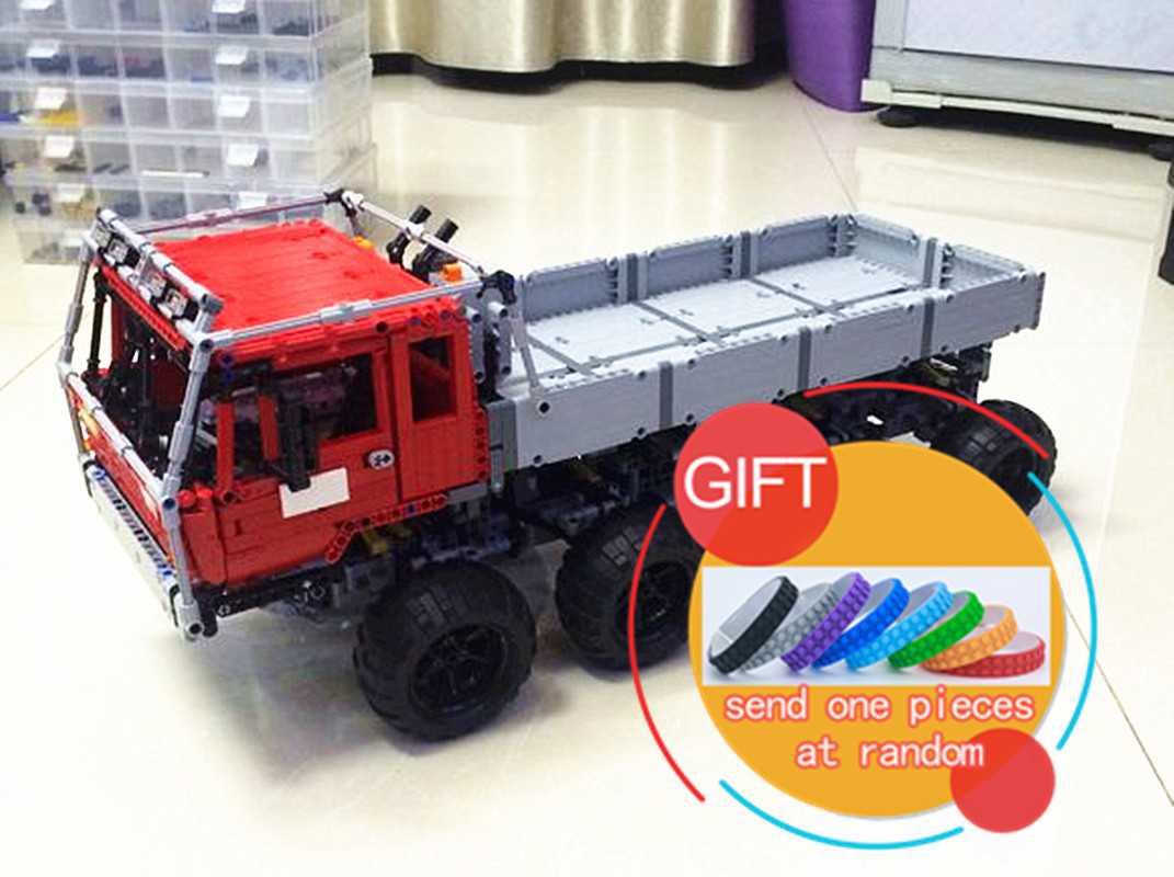 23012 2839Pcs Genuine Technic Series The Arakawa Moc Tow Truck Tatra Educational Building 813 Toys lepin new lepin 23012 2839pcs genuine technic series the arakawa moc tow truck tatra 813 educational building blocks bricks toys gift