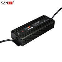 SANPU PFC SMPS AC DC 24V Power Supply Unit Waterproof IP67 Power LED Driver 24VDC 6A 150W AC/DC Transformer 24Volt Aluminum IP66