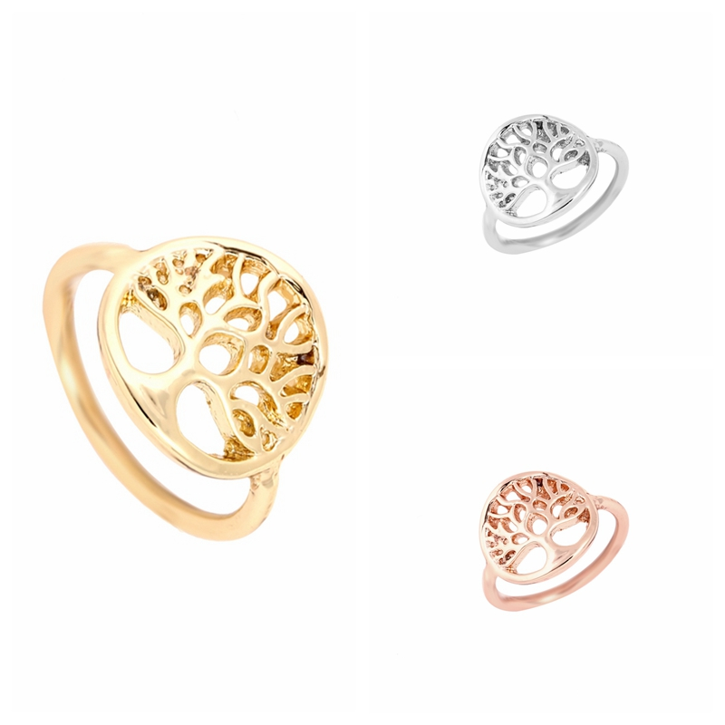 Oly2u Fashion New Sacred Tree of Life Ring Tree Shape Rings for Women Life tree Finger Weding Rings ...
