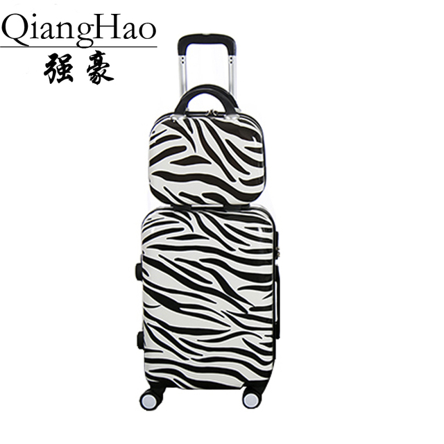 "QiangHao ! PC+ABS Suitcase,20""24""16""inch High-quality Anticollision Rolling Luggage, combination Lock travel Box"