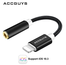 ACCGUYS 3.5MM Headphones audio cable adapter 8 Pin and For Lighting to 3.5MM Jack Stereo AUX Audio Converter For iPhone 7/7 Plus