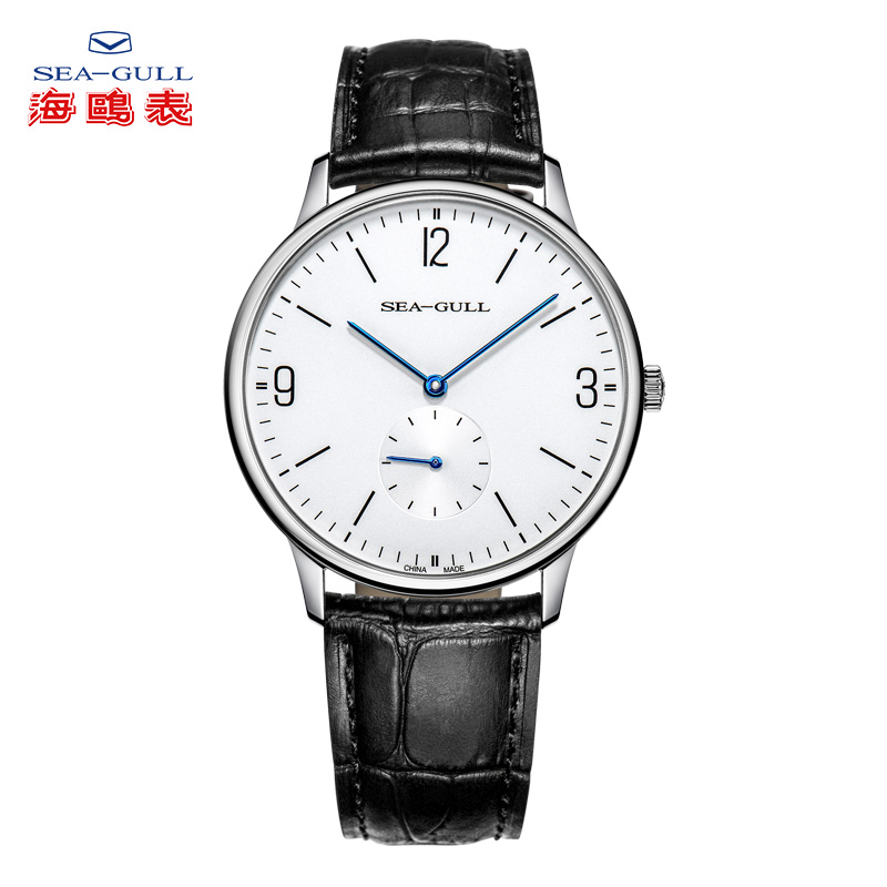 SEA-GULL Business Watches Mens Mechanical Wristwatches 50m Waterproof Leather Valentine Male Watches 819.17.6004SEA-GULL Business Watches Mens Mechanical Wristwatches 50m Waterproof Leather Valentine Male Watches 819.17.6004