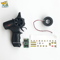 WPL Transmitter Upgrade DIY Receiver Board Horn Black Remote Control Plastic Spare Parts Accessories Replacement For WPL B Truck