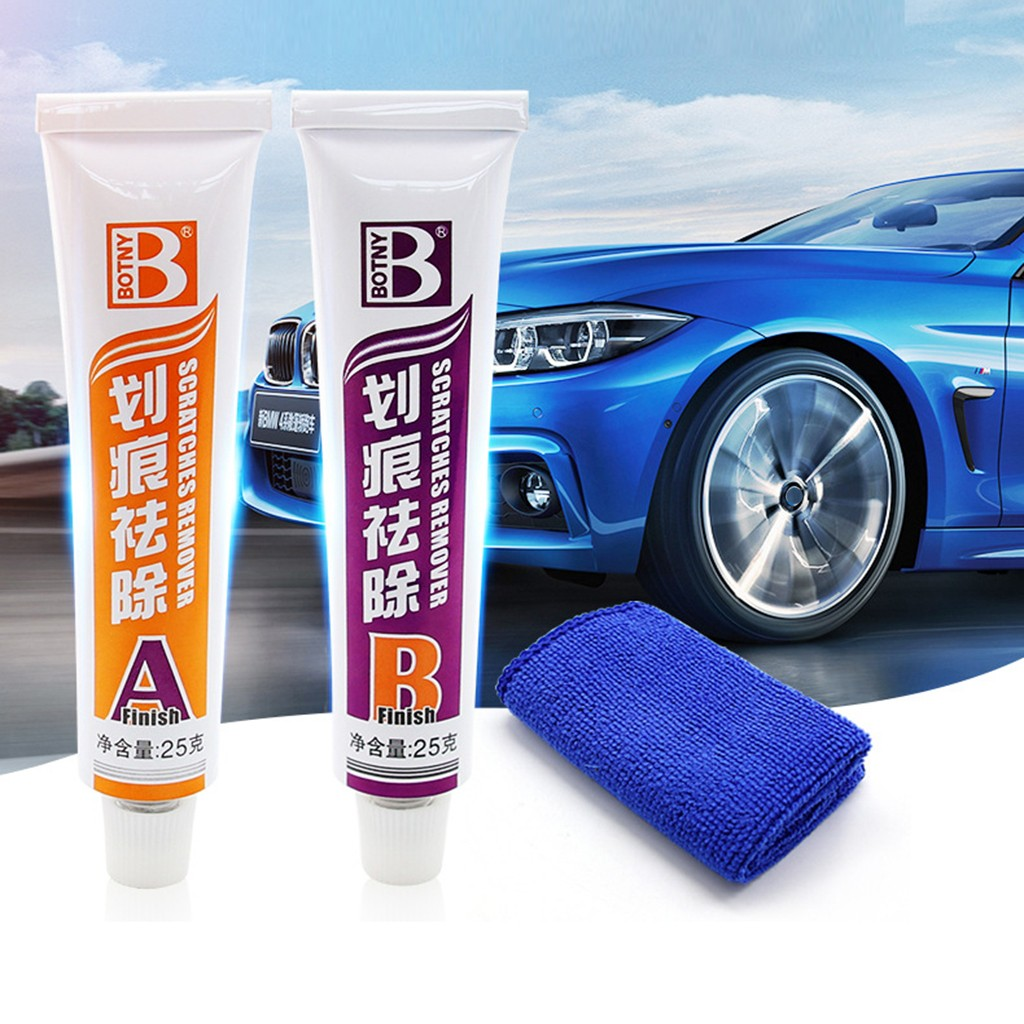 Us 3 47 30 Off Car Care Wax Car Scratches Repair Kit Paint Scratch Remover Removal Scuffs Scratches 2 Part Kit Dropship D7 In Grinding Polishing