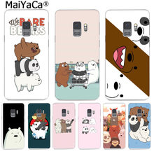 MaiYaCa we bare bears lovely cartoon Colorful Phone Cover for Samsung S9 S9 plus S5 S6 S6edge S6plus S7 S7edge S8 S8plus funda(China)