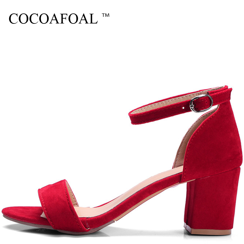 COCOAFOAL Summer Women's Sandals With Heels Shoes Woman Plus Size 33 Shoes Female Summer High Heel Women Sandals Sandalias Mujer