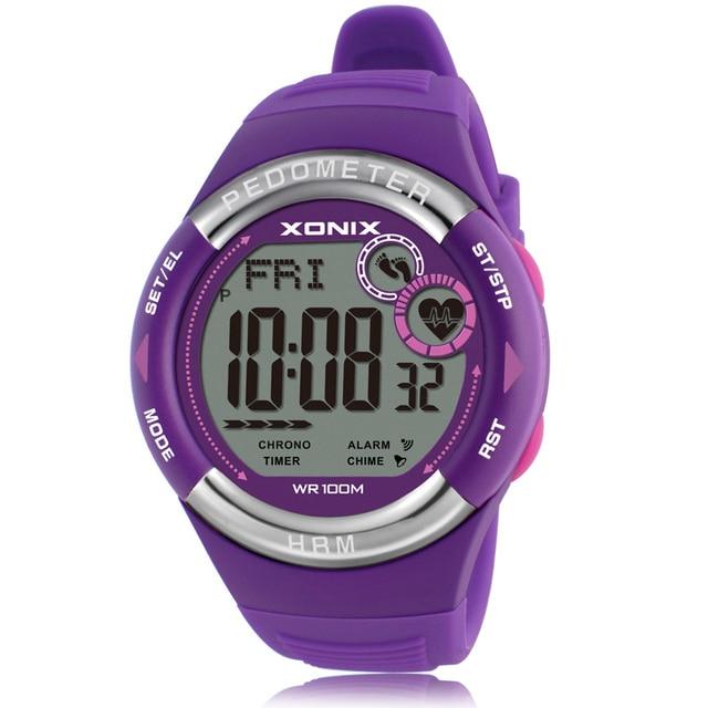 Hot!! Pedometer Heart Rate Monitor Calories BMI Men Sports Watches Waterproof 100m Women Digital Watch Running Diving Wristwatch 2