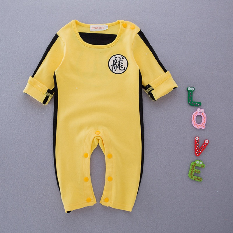 Kung Fu Children Clothing Baby Coveralls Long-Sleeve   Romper   Girls Boys Lovely Jumpsuit H364