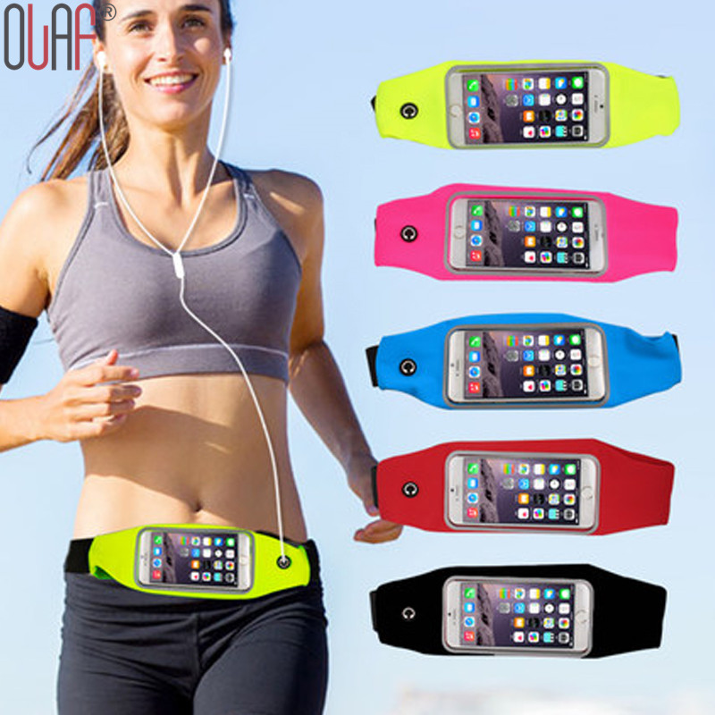 Universal Outdoor Sport Waist Bag Waterproof Fitness Running Belt Pouch Cover Case for iPhone SE / 6 / 6S Plus / Samsung S7 / S6
