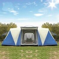 Ultra 8 12 Person Einer Halle 2 Schlafzimmer Doppel Schicht Wasserdichte Starke Camping Zelt Familie Zelt Carpas De Camping große Pavillon-in Zelte aus Sport und Unterhaltung bei