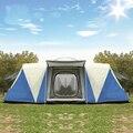 Ultralarge 8-12 Persone A Doppio Strato Impermeabile Forte Tenda Da Campeggio Famiglia Tenda Carpas De Camping