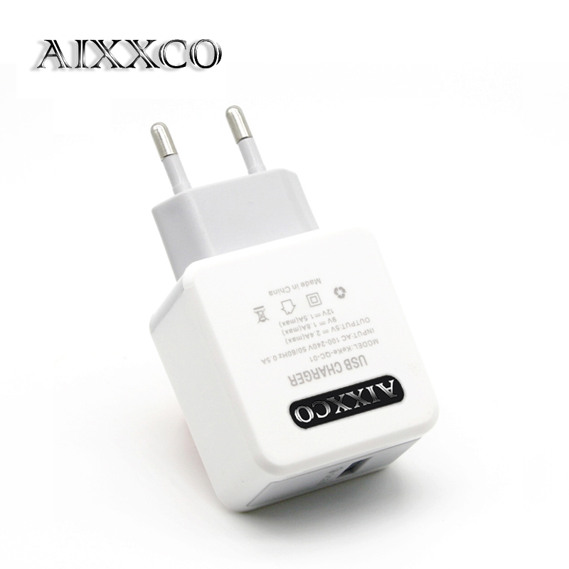 AIXXCO Quick Charge QC3.0 2.0 <font><b>Phone</b></font> USB <font><b>Charger</b></font> smart Fast USB <font><b>Charger</b></font> 5V2A 12V1.5A Universal Fast <font><b>wall</b></font> <font><b>charger</b></font> for Samsung