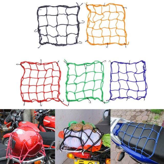 30*30 cm Motorhelm Netto Mesh voor Opslag Draagtassen, Bagagenet voor Motorfietsen, Helm Diversen Fix Mesh met 6 Metalen Haak