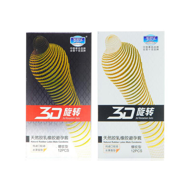 24pc/pack 3D Rotating Threaded G Spot Condom for Men Contex Penis Sleeves Latex Comdoms Fruit Flavour Camisinha Sex Products