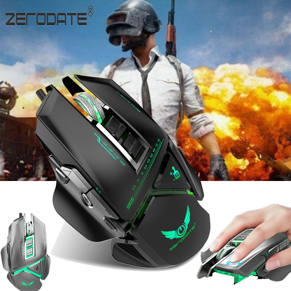 Malloom Mechanical USB Wired Gaming Mouse 3200DPI 11 Buttons Macro Definition For PUBG Ergonomics Optical Mouse SALE i rocks 7810r usb 2 0 wired 1800dpi optical gaming mouse white silvery grey