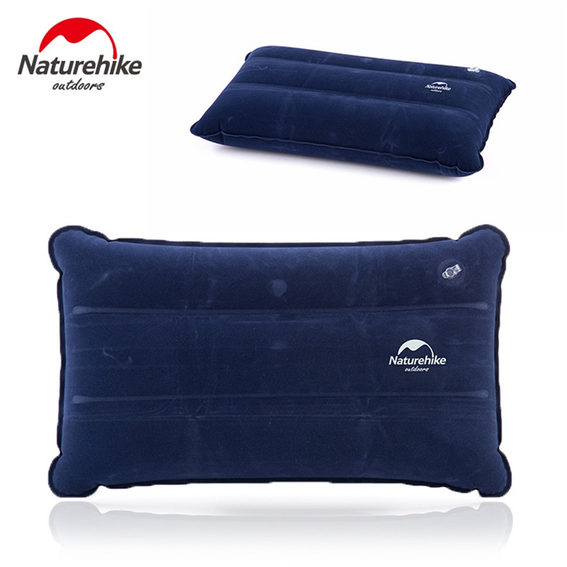 Image 3 - Naturehike Outdoor Inflatable Camping Mat Sleeping Pillow Folding Non slip Suede Fabric Mat for Camping & Hiking-in Camping Mat from Sports & Entertainment