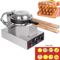 Professional Commercial Electric Egg Bubble Waffle Maker Machine Eggettes Puff Cake Iron Maker Machine Bubble Egg