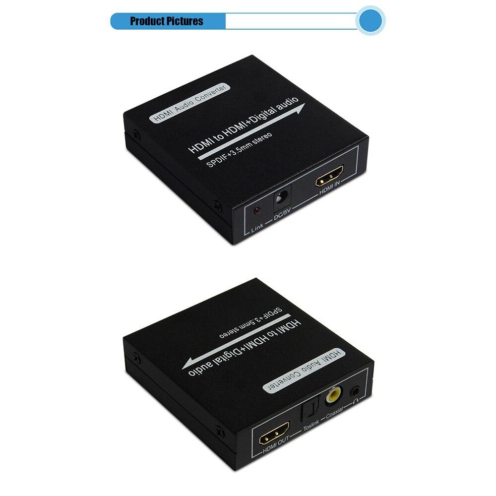HDMI 5.1 Spdif digital audio converter extractor power free V1.3 support 3D - Shen Zhen YouTing Technology Co.,LTD store