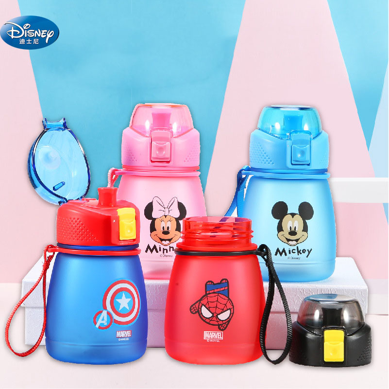 Disney  Mickey Mouse Scrub Cartoon Cups Kids Spider-man Captain America Drink Straight Baby Sport Bottles Princess Feeding Cups