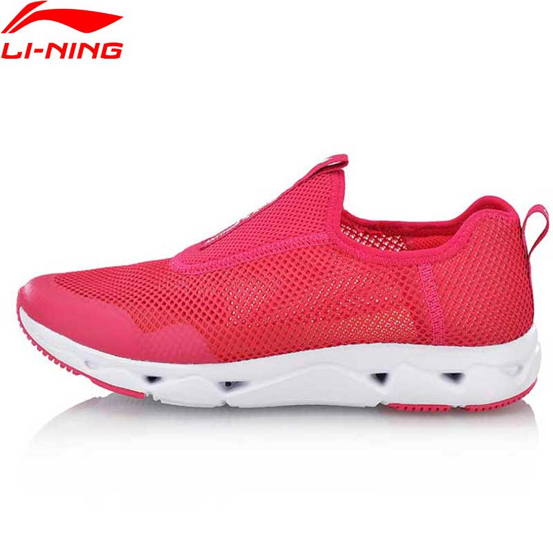 Li-Ning 2018 Women LN UPSTREAM Aqua Shoes Walking Shoes Breathable Slip-On Li Ning Sports Shoes Fitness Sneakers AGCN054