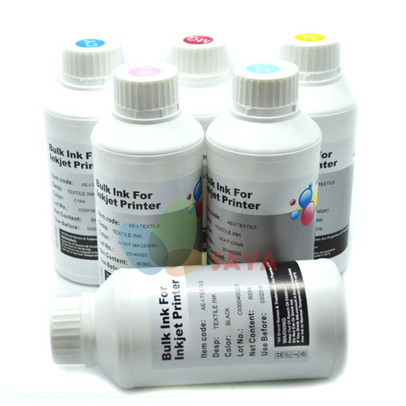 Textile Ink for Epson Stylus photo R230 Printer Textile Pigment Based Ink For Epson Printer Head Textile printer led uv curable ink for epson 1390 printer head printing on hard materials for 3d effects 1000ml pcs 6c