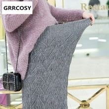 GRRCOSY Maternity Mermaid skirt Trumpet knit High waist Autumn new Pregnant woman Long section High waist knitting Half body(China)