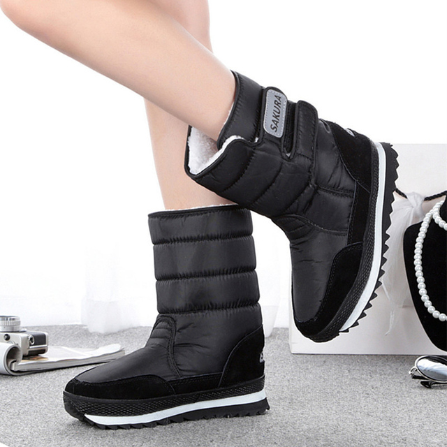 Women Snow Boots Non Slip Weatherproof Leisure Winter Boots Women