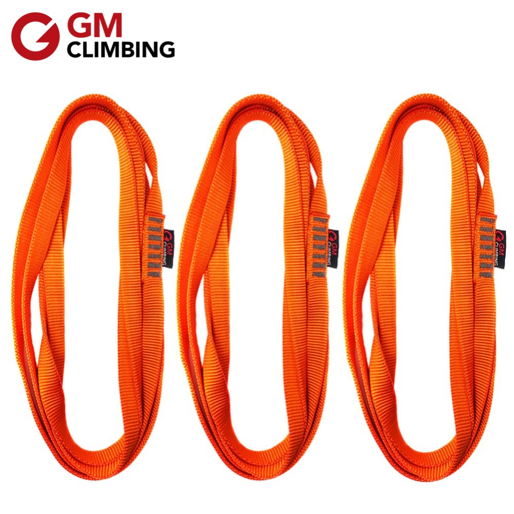 3pcs Rock Climbing Sling 22kN Nylon Sling Webbing CE / UIAA 30cm / 60cm / 120cm Arborist Rappelling Mountaineering Equipment