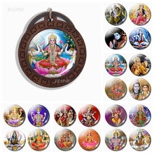New Arrival Indian God Shiva Keychain Wooden Religious Amulet Pendant Handmade Accessories Gift for Friends Free Shipping