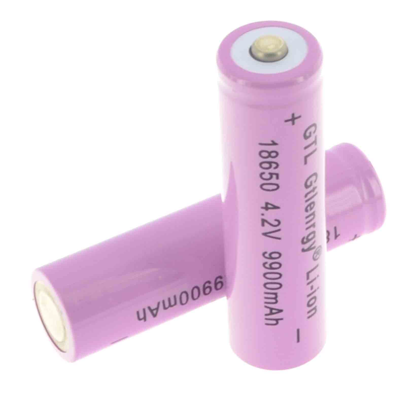 1/2/4/8/12/20pcs lithium 18650 Li-ion Battery Rechargeable 4.2V Battery 9900mAh lithium Battery For LED Flashlight Torch pink стоимость