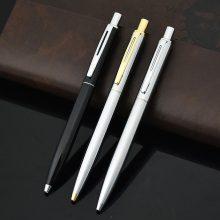 Luxury Brand Metal Roller Ball Pen Ballpoint Pen For Business Writing Stationery 0.5mm Office School Supplies Black/Gold/Silver new crystal ballpoint pen roller ball pen instead of fountain pen pencil box and bag brand gift stationery office school