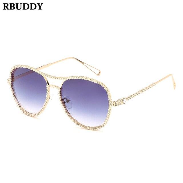 2ff58b00fe5 RBUDDY Fashion Diamond Sunglasses Women Brand Design Metal Frame High  Quality Shades Sun Glasses Hawaiian Vacation