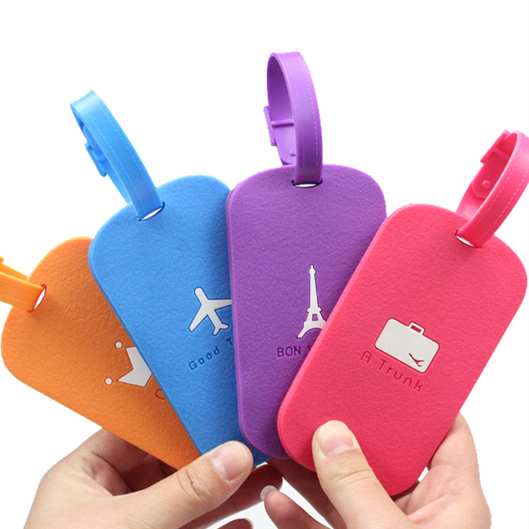 Portable Fashionable Silicone Travel Luggage Tags Baggage Suitcase Bag Labels Name Address Identifier Label ID Travel Accessorie