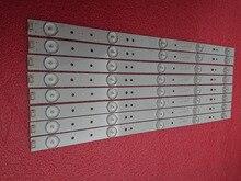 New 8 PCS/set 5LED 405mm LED strip For Polaroid TQL43F4PR001 43E3000 5800 W43001 3P00 E465853 02K03177A RDL430WY RDL430FY