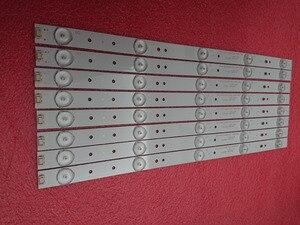 Image 1 - Yeni 8 adet/takım 5LED 405mm LED şerit Polaroid TQL43F4PR001 43E3000 5800 W43001 3P00 E465853 02K03177A RDL430WY RDL430FY