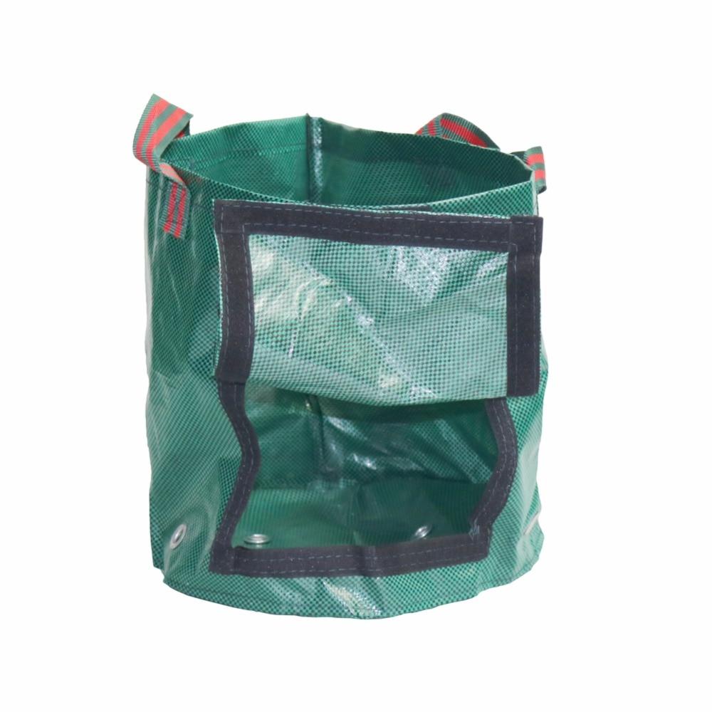 10 pièces pommes de terre culture plantation sac PE tissé tissu cultiver des sacs pour la maison jardin ferme plante légumes fleurs jardinage pots