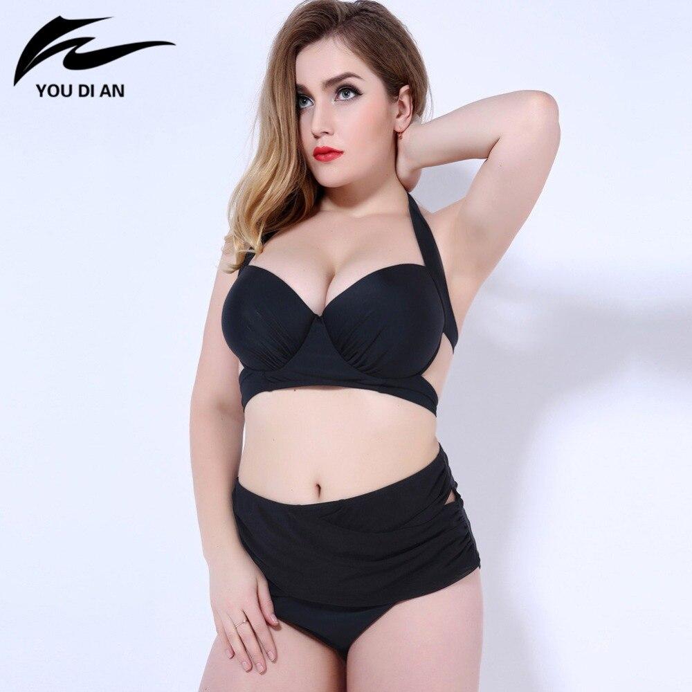 c556655ccf860 2016 black high waist swimsuit New Bandage Plus Size Bikinis Women Swimwear  push up Biquini Brazilian Bikini Set Bathing Suit - imall.com