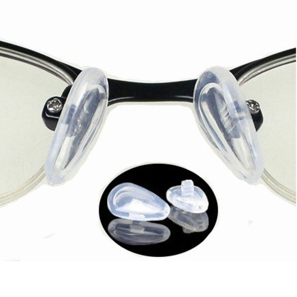 50 Pairs PVC Nose Pads Replacement For Glasses Screw In Eyeglasses Sunglasses