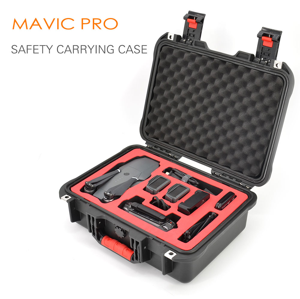 PGYTECH safety carrying case for DJI mavic pro Camera Drone Accessories Waterproof Hard EVA foam Equipment Carrying Fpv RC parts  new black abs plastic gimbal hard case for mini drone dji osmo with custom foam waterproof box for headless drone