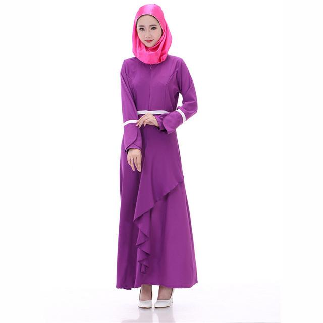 De alta qualidade vestidos longos muçulmanos duas cores emendado suave modal tunique jilbabs e abayas hijab das senhoras nobre
