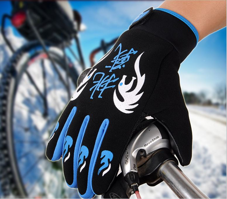 GLV931B Man and woman winter outdoor riding font b glove b font with fleece non slip