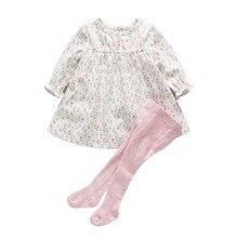 Bébé fille vêtements nouveau-né bébé coton floral dress + leggings 2 pcs vêtements ensemble infantile costume premier anniversaire tenues pour fille