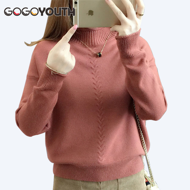 61a759cb77 Gogoyouth 2018 Autumn Fashion Ladies Pullover Female Tricot Women  Turtleneck Jersey Jumper Winter Sweater Women Top Pull Femme