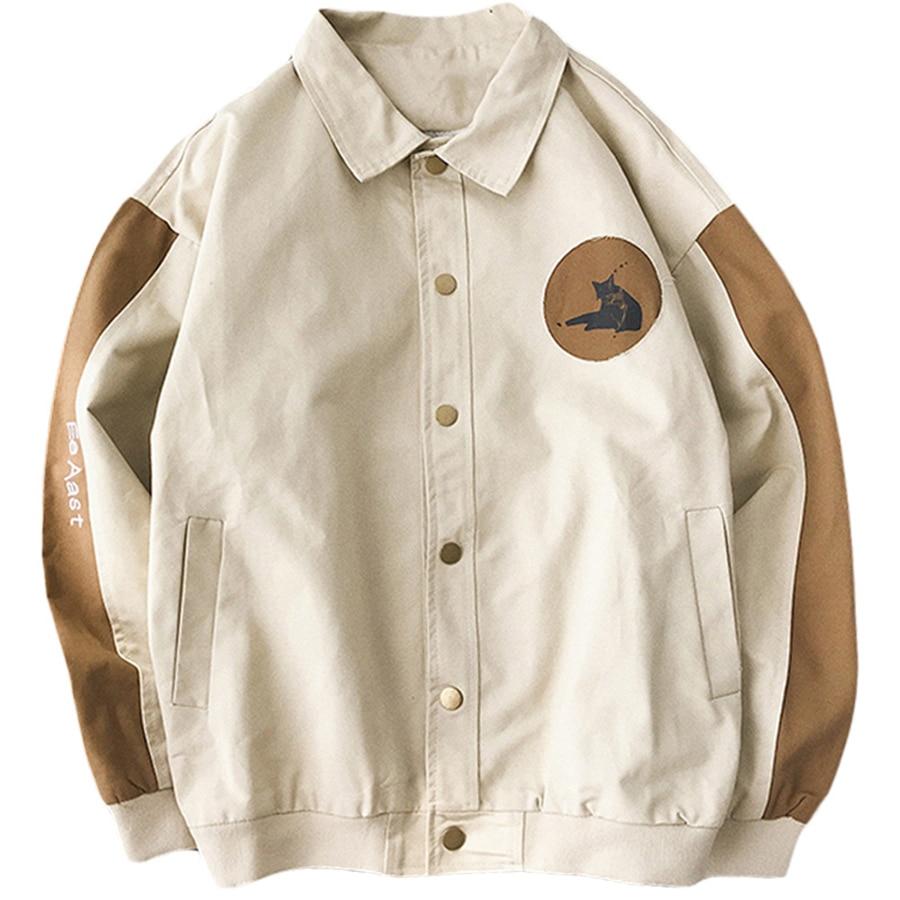 2f8b45d7b4c 2019 летние куртки для мужчин Уличная японский Забавный Хип Хоп s толстовки  повседневное хлопок Zip Up