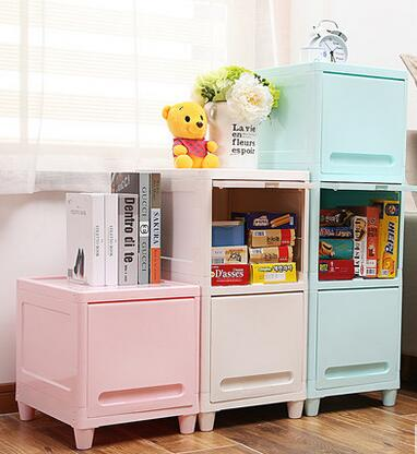 Multilayer Storage Cabinets Drawers Children's Shelves Simple Plastic Children's Toys Debris Household Drawer Storage Cabinet