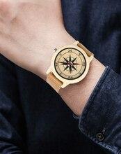 Minimalist Genuine Leather Band Wristwatch Novel Gift Fashion Nature Sandalwood Casual Bamboo Simple Creative Watches Men Sport