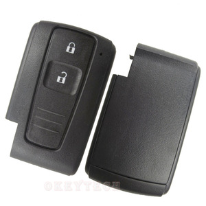 Image 5 - OkeyTech 2 Button Replacement Remote Key Shell Fob for Toyota Prius Corolla Verso Smart Card No Blade Free Shipping Cover Case