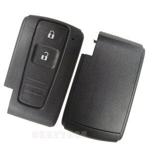 Image 5 - OkeyTech carcasa de repuesto para llave remota, 2 botones, para Toyota Prius Corolla Verso, tarjeta inteligente sin hoja